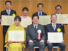 令和元年度「健康づくり活動に関する知事褒賞」授与写真